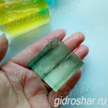"""Зеленые гидрогелевые кубики """"Orbeez"""" (Орбиз), 1 шт"""