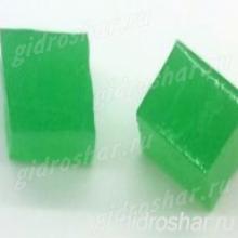 """Зеленые гидрогелевые кубики """"Orbeez"""" (Орбиз), 10 шт"""