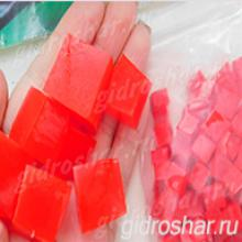 """Красные гидрогелевые кубики """"Orbeez"""" (Орбиз), 50 шт"""