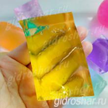 "Желтые гидрогелевые кубики ""Orbeez"" (Орбиз), 1 шт"