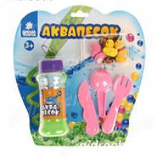 """Набор аквапеска """"Веселая ферма"""" с игрушками, песок зеленый 100 гр, гидрогель 15 гр, лопатки"""