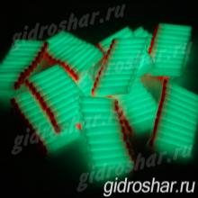 Светящиеся в темноте мягкие пули с присосками для пистолетов и автоматов синие, 50 шт