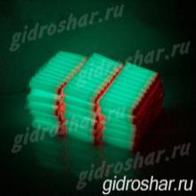 Светящиеся в темноте мягкие пули с присосками для пистолетов и автоматов синие, 10 шт