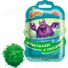 Кристаллы с треском Baffy для ванны, зеленые
