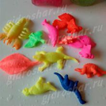 Средние гидрогелевые фигурки Динозавров, 10 шт