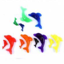 Разноцветные растущие в воде фигурки дельфинов, 5 шт