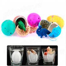 Яйцо среднее цветное в трещенку 5,5х4,5 см, 6 шт