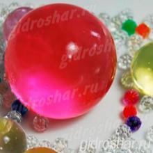 Бордовые растущие шарики ORBEEZ (Орбиз) 35-45 мм, 5 шт