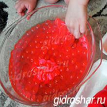 Гидрогель красный 13-15 мм, 1000 шт