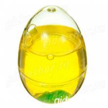 """Лизун """"Яйцо с игрушкой"""" твёрдый, желтый"""