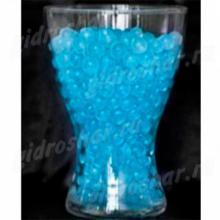 Небесный синий гидрогель с блеском 1,5 см, 1000 шт