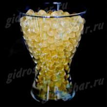 Золотой гидрогель с блеском 1,5 см, 1000 шт