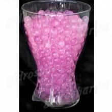 Розовый гидрогель с блеском 1,5 см, 1000 шт