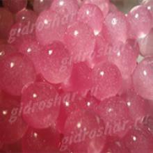 Розовый гидрогель с блеском 1,5 см, 10000 шт