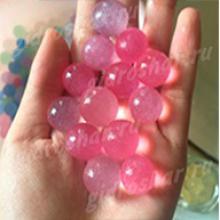 Розовый гидрогель с блеском 1,5 см, 120 шт