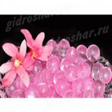 Розовый гидрогель с блеском 1,5 см, 2200 шт