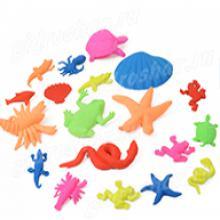 """Маленькие гидрогелевые фигурки """"Морские животные"""", 5 шт"""
