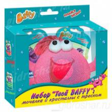 """Набор """"Твой Baffy"""": мочалка и кристаллы с треском для девочек, 1 уп"""
