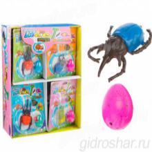 """Растущие игрушки """"Жук"""", в наборе яйцо: 2 × 3 см с динозавром"""