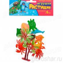"""Набор растущих игрушек """"Море"""", 10 шт + дерево"""