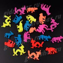 Средние разноцветные растущие в воде дикие животные, 5 шт
