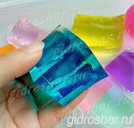 """Синие гидрогелевые кубики """"Orbeez"""" (Орбиз), 1 шт"""
