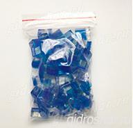 """Синие гидрогелевые кубики """"Orbeez"""" (Орбиз), 20 шт"""