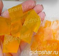 """Оранжевые гидрогелевые кубики """"Orbeez"""" (Орбиз), 20 шт"""