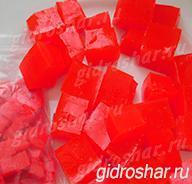 """Красные гидрогелевые кубики """"Orbeez"""" (Орбиз), 10 шт"""