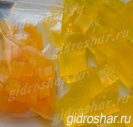 "Желтые гидрогелевые кубики ""Orbeez"" (Орбиз), 20 шт"