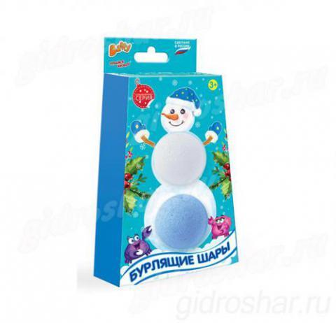Бурлящие шары Baffy, 2 шт синий и белый