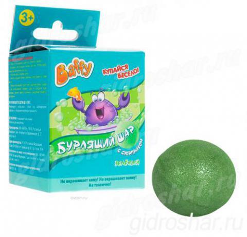 Бурлящий шар Baffy с сюрпризом для ванны, зеленый