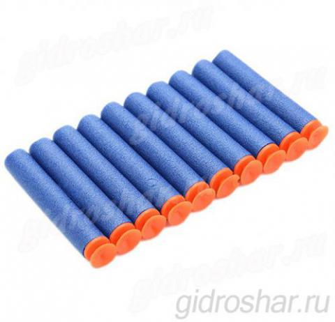 Мягкие пули с присосками для пистолетов и автоматов синие, 50 шт