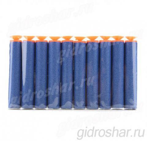 Мягкие пули с присосками для пистолетов и автоматов синие, 100 шт
