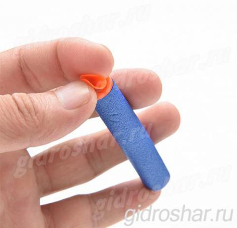Мягкие пули с присосками для пистолетов и автоматов синие, 1 шт