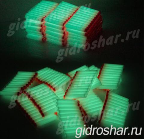 Светящиеся в темноте мягкие пули с присосками для пистолетов и автоматов, 100 шт