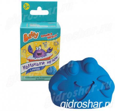 Мыльный мелок Baffy, синий, 1 шт