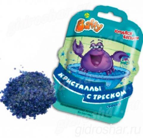 Кристаллы с треском Baffy для ванны, синие