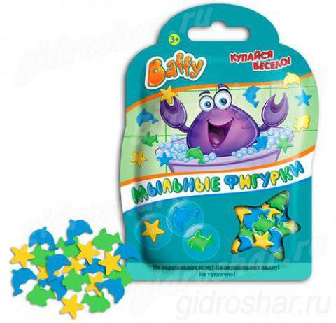 Мыльные фигурки Baffy 8гр, цвет Голубой, желтый, зеленый, 1 шт