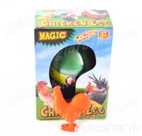 Яйцо с растущим Петухом 10,5х7,5х5 см, 1 шт