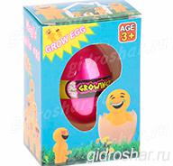 Яйцо с растущим в воде Смайлом 10,5х7,5х5 см, 1 шт