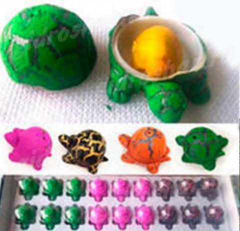 Яйцо с растущей черепахой 3х4 см, 6 шт