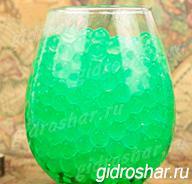 Гидрогель зеленый 7-11 мм, 120 шт
