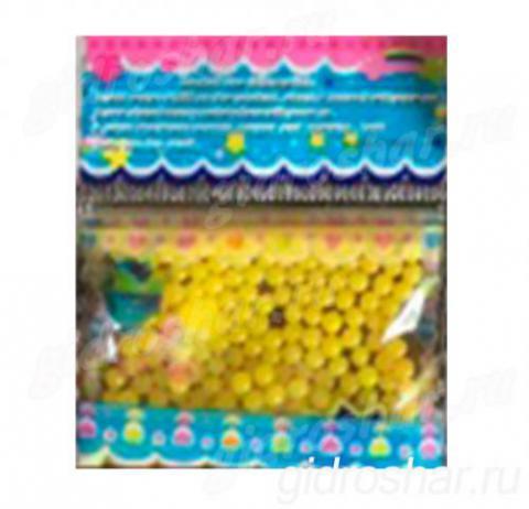 Гидрогель желтый 11-13 мм, 300 шт