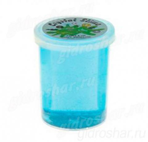 Лизун «Баночка Cristal Slime» твердый, синий