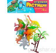 """Набор растущих игрушек """"Динозавры"""", 10шт + дерево"""