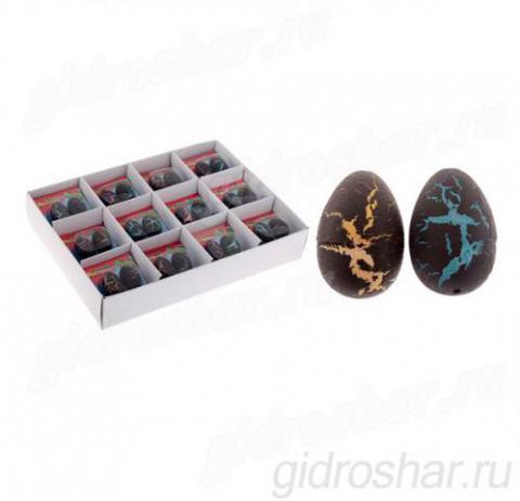 Набор из 2 яиц с растущими динозаврами, черные