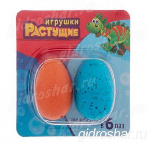 Набор из 2 яиц с растущими динозаврами, цветные