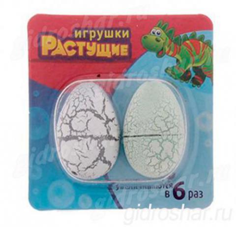 Набор из 2 яиц с растущими динозаврами, белые