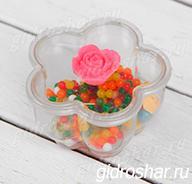 Набор Райские цветы, в банке с гидрогелем